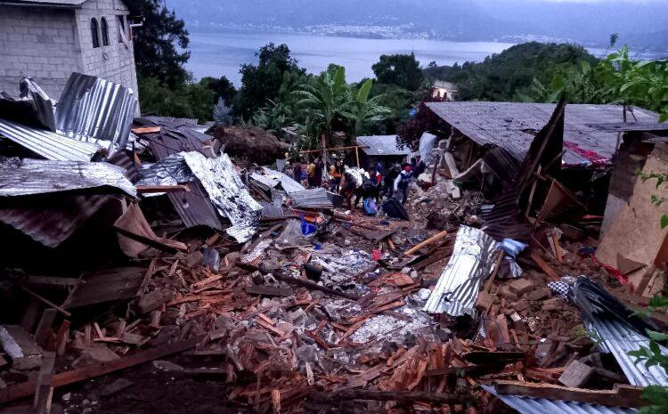 Deslizamiento en San Marcos la laguna deja cuatro personas fallecidas y 10 heridas