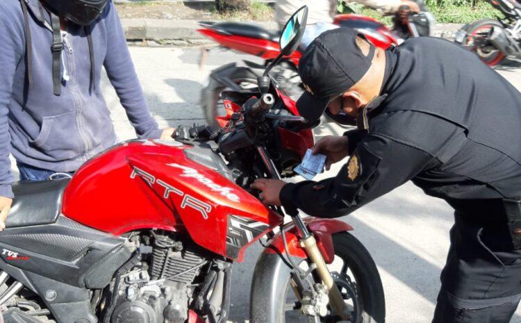 Municipalidad de Mixco multará a motociclistas que mantengan contaminación auditiva