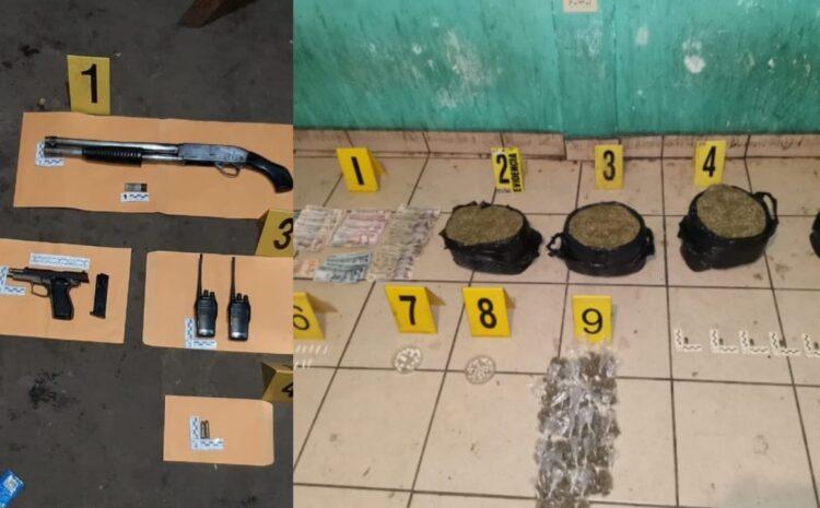 Armas, dinero y drogas se localizan en segundo día del Plan de Recuperación y Control
