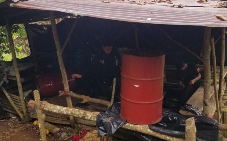MP procesa escena en laboratorio productor de coca en Izabal