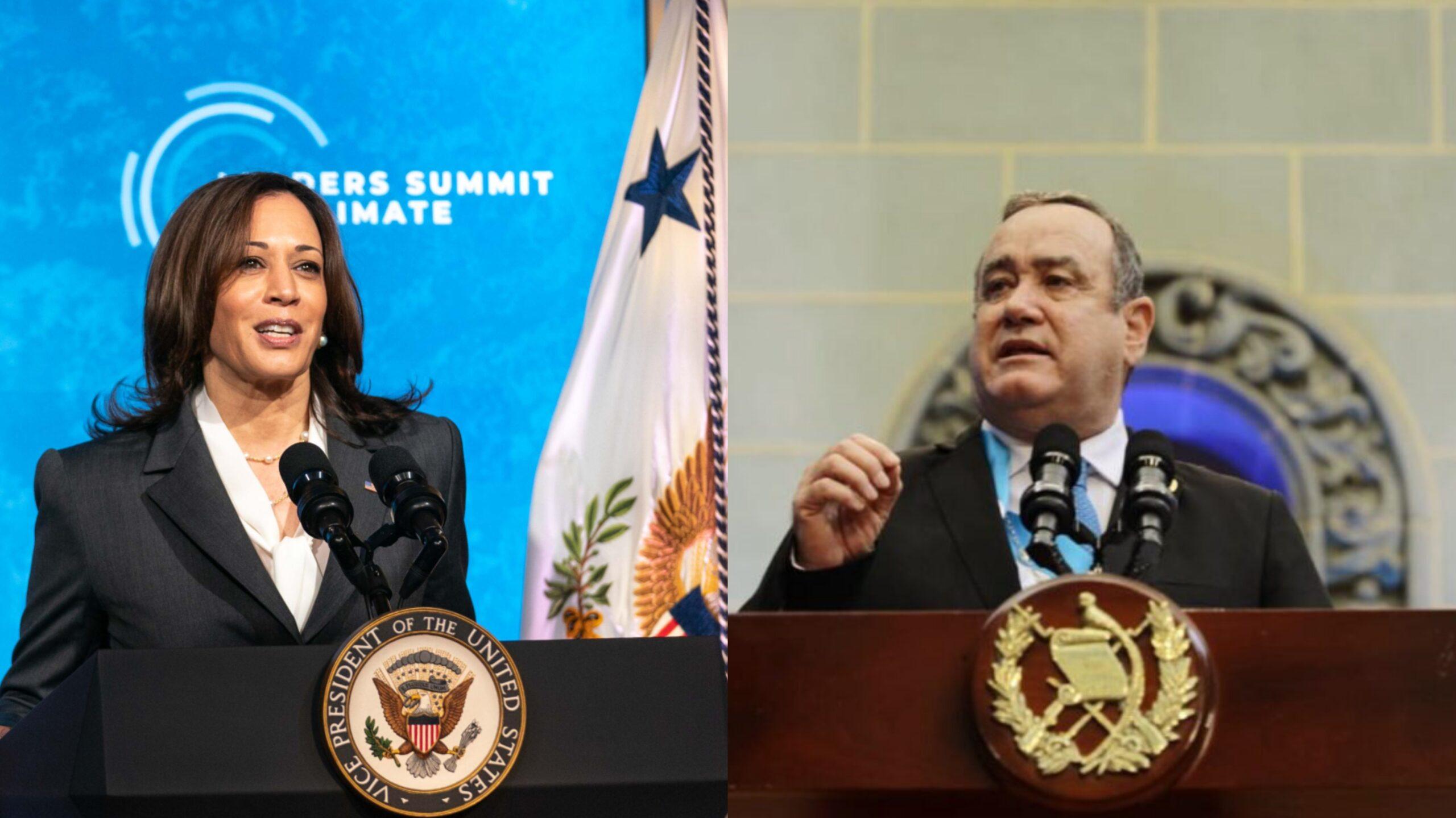 Giammattei se reúne con vicepresidenta de EEUU para tratar temas de migración