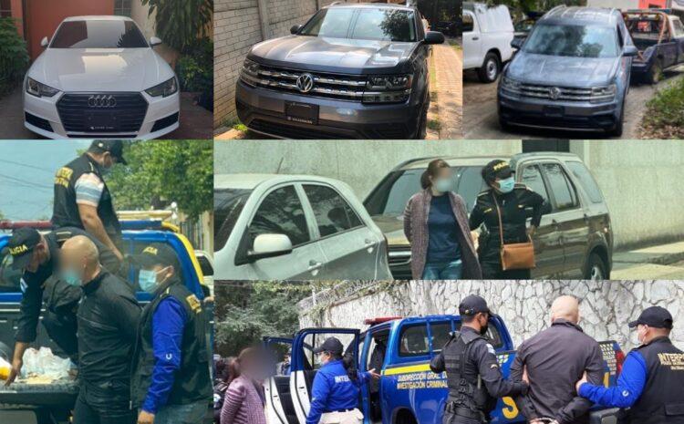 Fiscalía Transnacional captura a tres personas y recupera tres vehículos robados en México